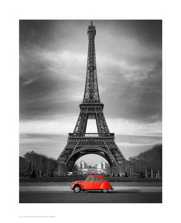 Retro Red and the Eiffel Tower