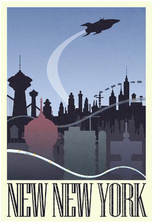 New New York Retro Travel Poster