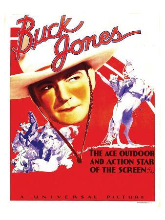 Buck Jones On Stock Window Card