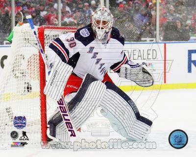 New York Rangers Henrik Lundqvist 2014 NHL Stadium Series Action