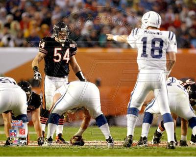 Brian Urlacher & Peyton Manning Super Bowl XLI Action