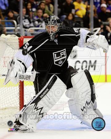 Los Angeles Kings Ben Scrivens 2013-14 Action