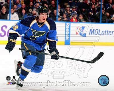 St Louis Blues Derek Roy 2013-14 Action
