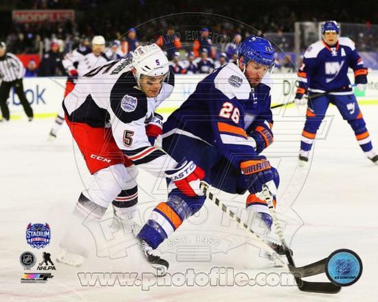 competitive price 1f25a a734e New York Islanders,New York Rangers Thomas Vanek & Dan Girardi 2014 NHL  Stadium Series Action