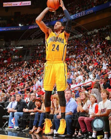 dec6929158a Indiana Pacers Paul George 2013-14 Action Photo at AllPosters.com