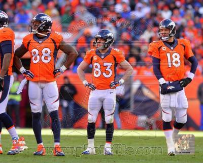 Demaryius Thomas, Wes Welker, & Peyton Manning 2013 Playoff Action