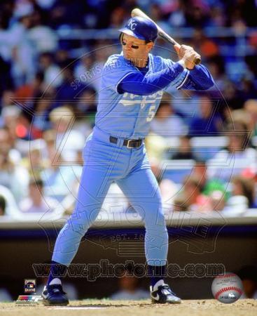 Kansas City Royals George Brett 1990 Action