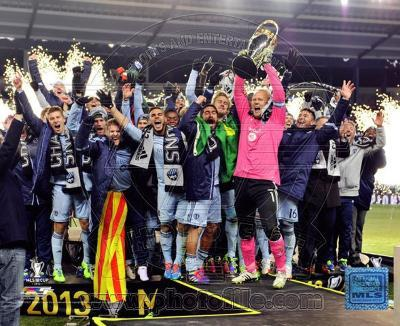 Sporting KC Celebrate Winning the 2013 MLS Cup