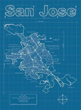San Jose Artistic Blueprint Map