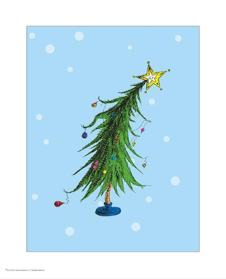 Grinch Collection II - Who-ville Christmas Tree (snow) Art ...