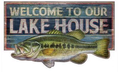 Welcome To Our Lake House Vintage Wood Sign