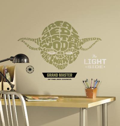 Star Wars - Typographic Yoda Peel and Stick Giant Wall Decal
