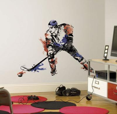 Men's Hockey Champion Peel and Stick Giant Wall Decal