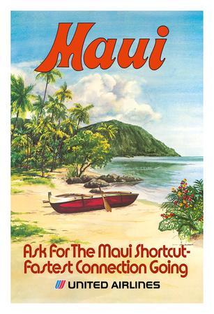 Maui, Hawaii - United Airlines - Hawaiian Outrigger Canoe (Wa'a)