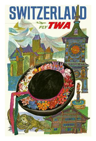 Switzerland - Trans World Airlines Fly TWA