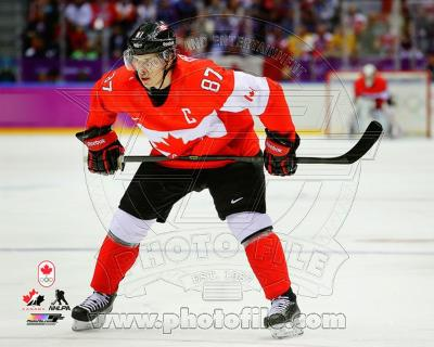 Team Canada Sidney Crosby 2014 Winter Olympics Action