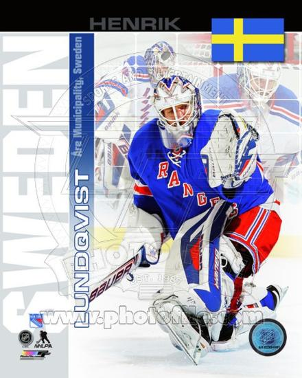 New York Rangers Henrik Lundqvist Sweden Portrait Plus Photo At