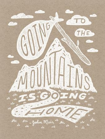 Muir Illustrated Quote Poster