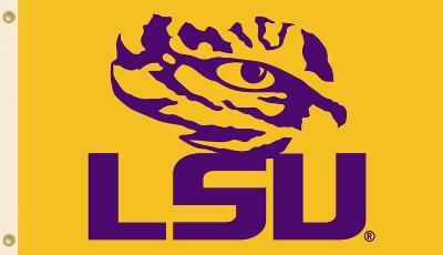 NCAA Louisiana State Tigers LSU Flag with Grommets