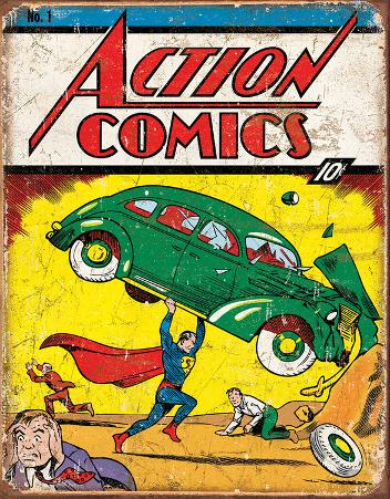 Action Comics Superman No.1 Cover Tin Sign