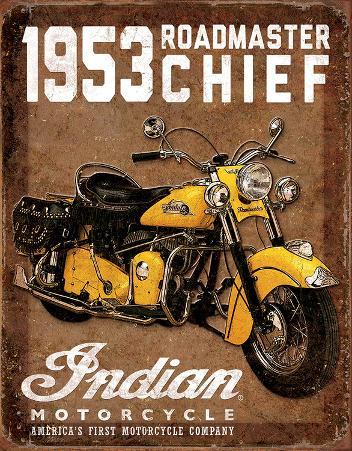 1953 Indian Roadmaster Tin Sign