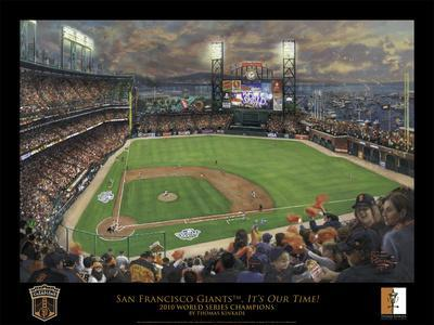 Sf giants it 39 s our time black border posters by thomas - Sf giants wallpaper border ...