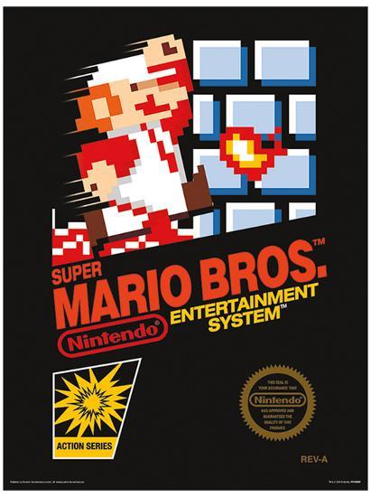 Super Mario Bros Nes Cover Masterprint Allposters Com