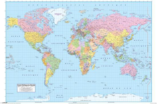 French World Map Print At Allposters Com
