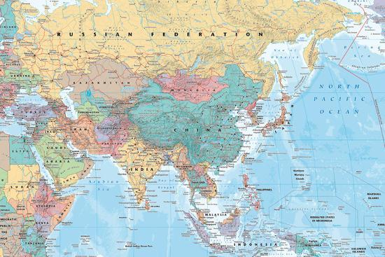 Middle East And Asia Map Posters At Allposters Com