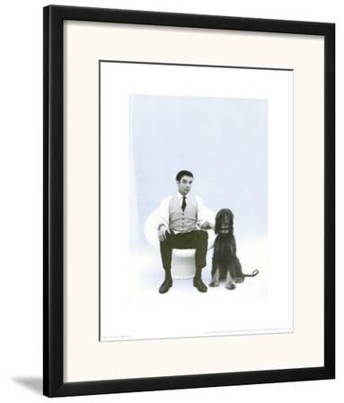 Yves Klein with Afghan Hound, c.1959