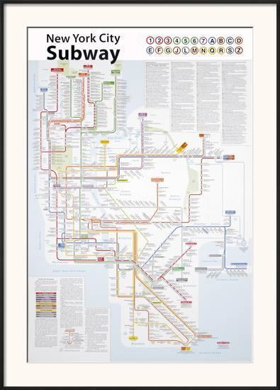Ny Subway Map For Framing.New York City Subway Map