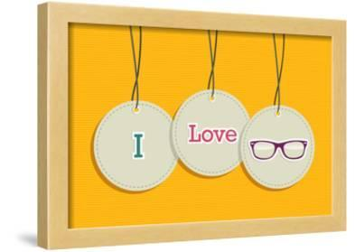Hanging I Love Hipsters Badges