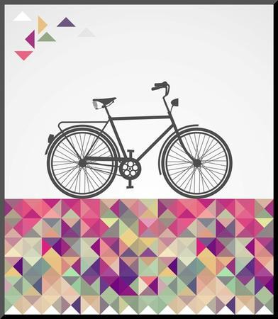 Geometric Hipster Bicycle