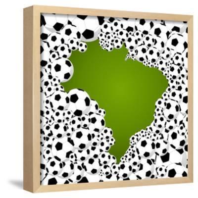 Brazil Country Shape Soccer Balls