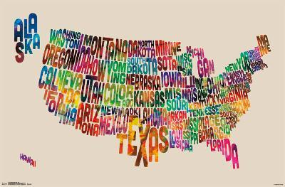 United States Map - Text