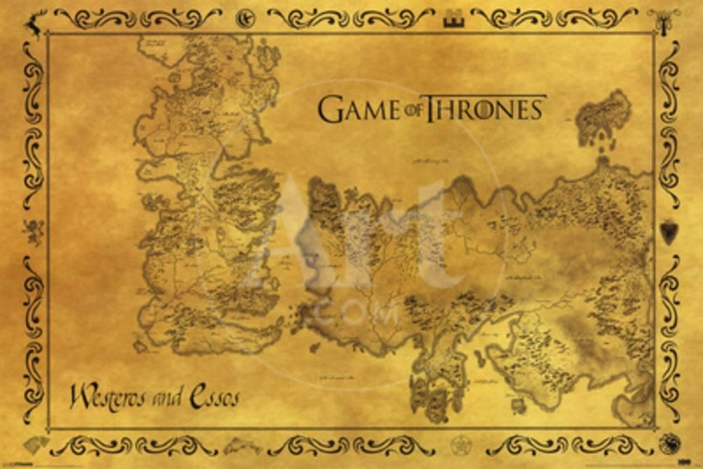 Game Of Thrones - Antique Map Photo at AllPosters.com