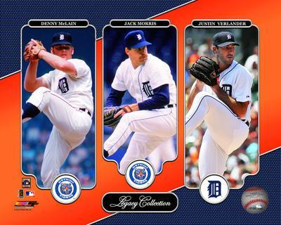 Detroit Tigers - Denny McLain, Jack Morris, & Justin Verlander Legacy Collection