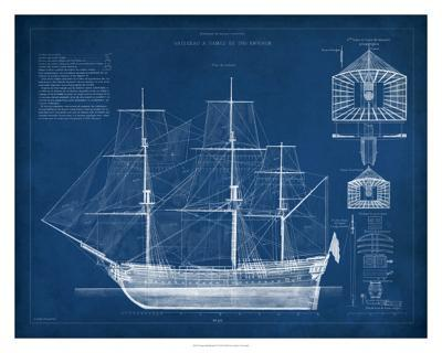 Antique Ship Blueprint IV