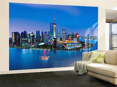 Shanghai Skyline Wall Mural