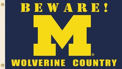 NCAA Michigan Wolverines Country Flag with Grommets