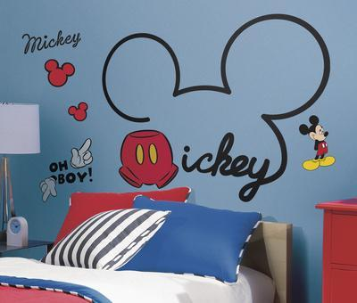 Mickey & Friends - All About Mickey Peel and Stick Giant Wall Decals