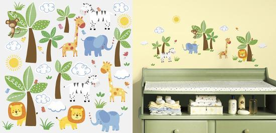 Jungle Friends Peel And Stick Wall Decals Wall Decal At
