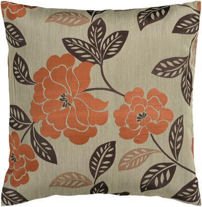 Floral Bloom Down Fill Pillow - Pumpkin