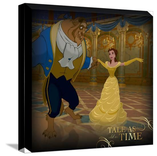 Disney Beauty And The Beast Belle Frame Couple Dance Canvas