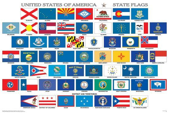 Clever image intended for printable state flags