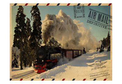 Locomotive Postcard