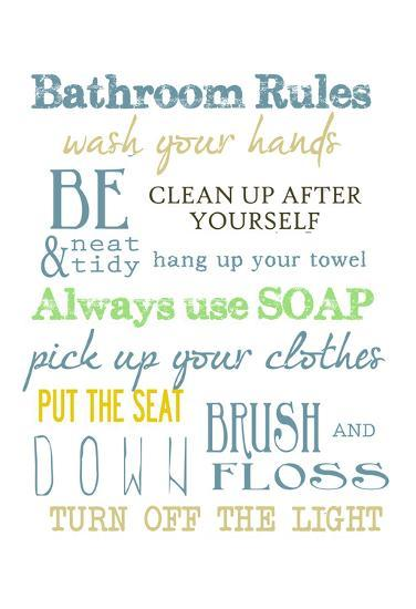 Bathroom Rules Multi Posters By Taylor Greene At