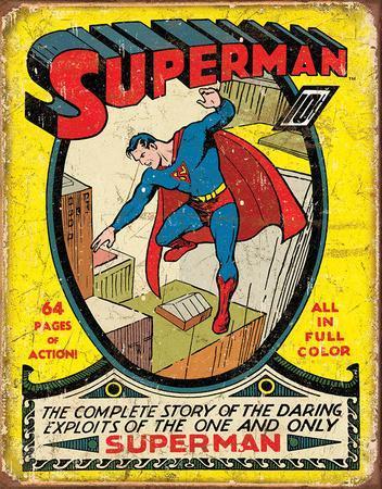 Superman No1 Cover Tin Sign