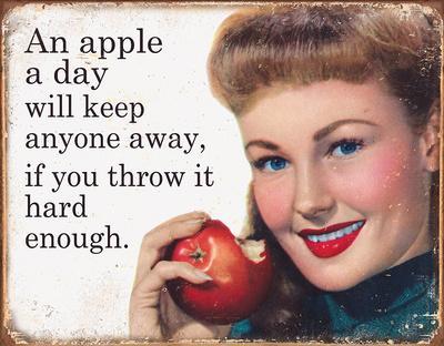 Ephemera - Apple a Day Tin Sign