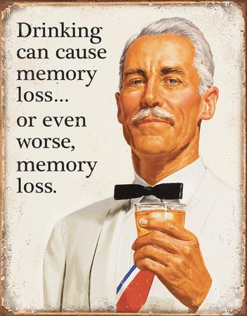 Ephemera - Memory Loss Tin Sign